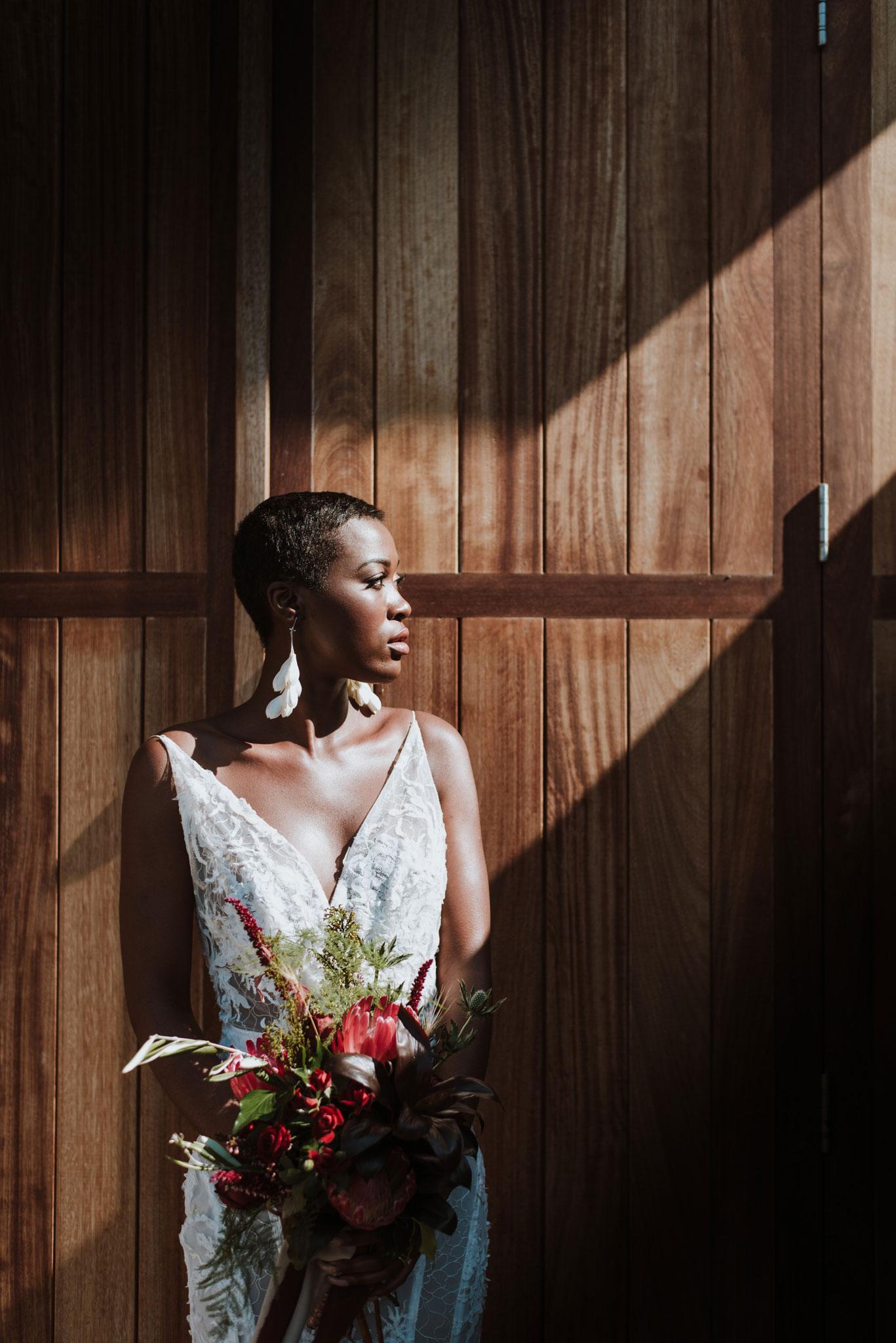 Bride, bridal flowers, bridal bouquet, editorial shot, editorial bride, model