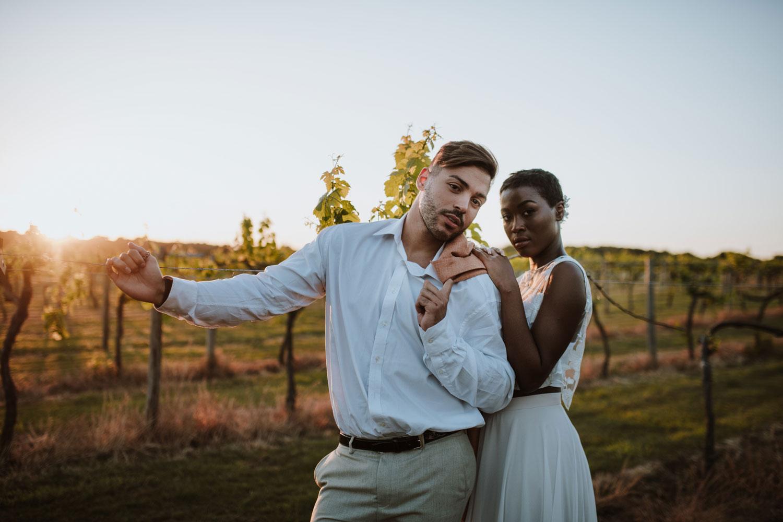 Couple, wedding, vineyard, marriage
