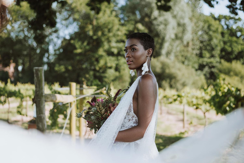 Bridal bouquet, bride, editorial bride, model, wedding flowers