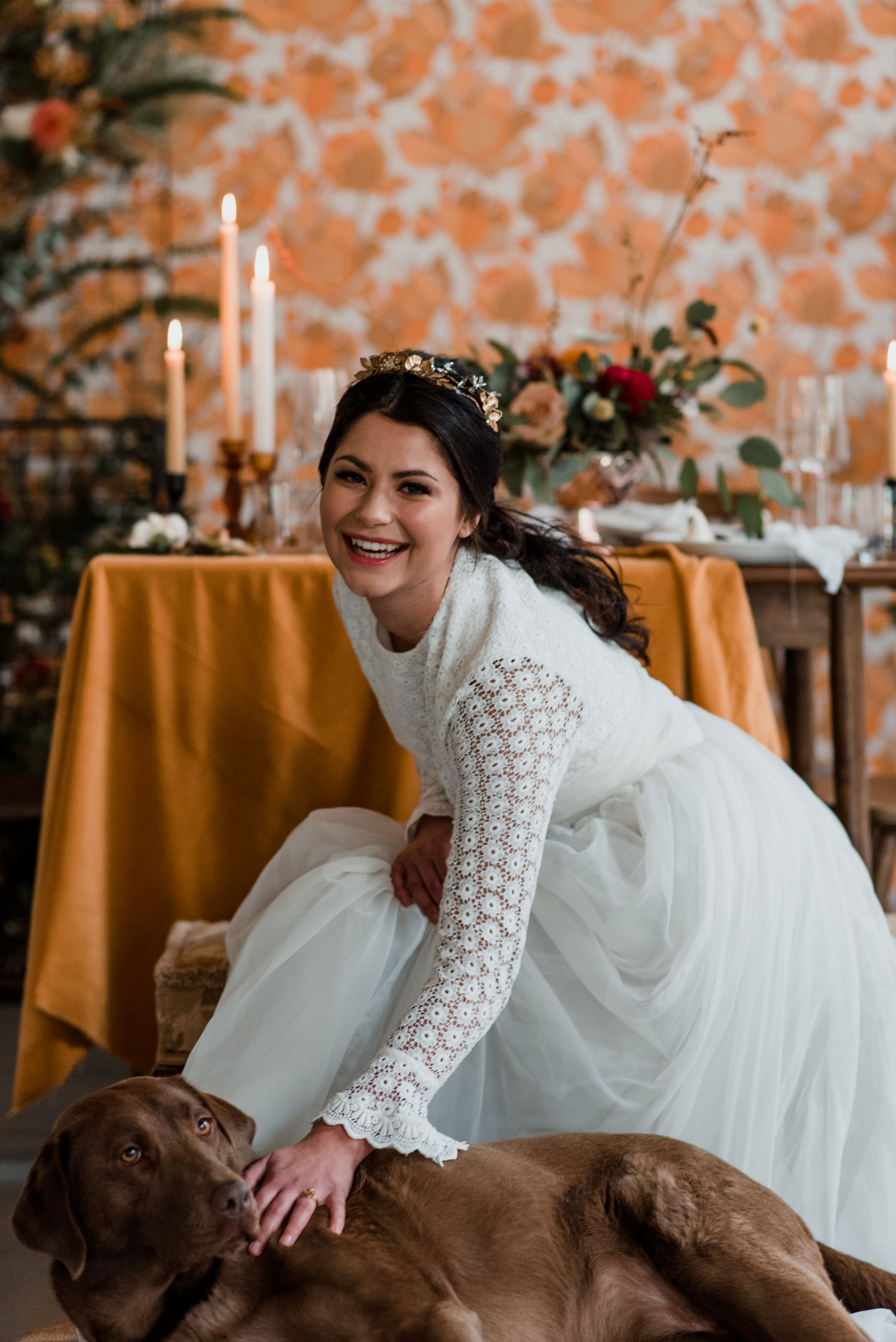 dog bride pet wedding flowers london