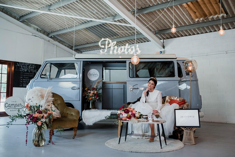 vintage camper van wedding flowers london