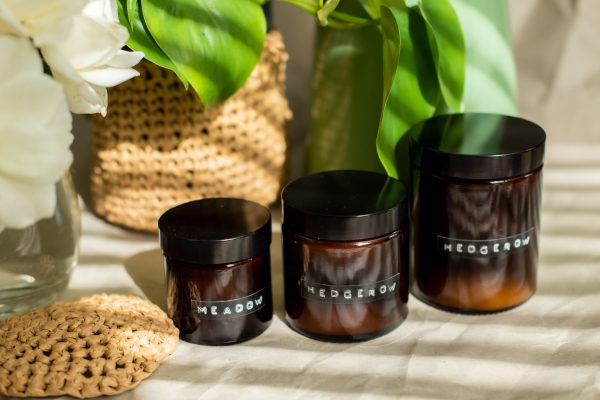 hedgerow soy scented vegan candles 3 sizes small to large