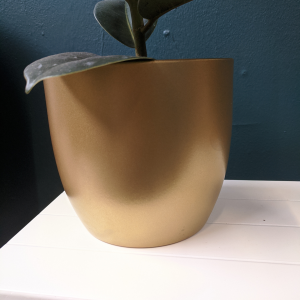 gold ceramic plant pot 14cm