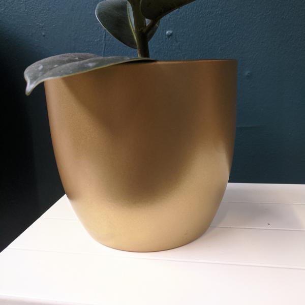 gold ceramic plant pot 14cm