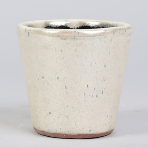pearl finish cream plant pot