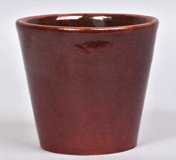 rust red ceramic plant pot 15cm