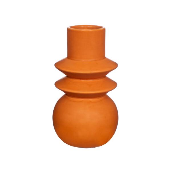 terracotta angled totem vase