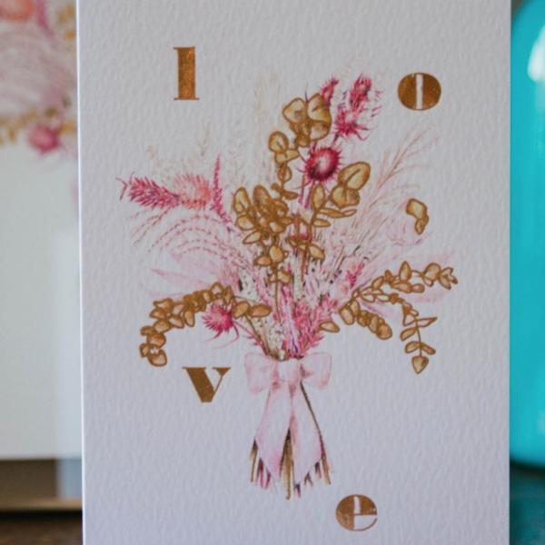 handmade letterpress valentines card