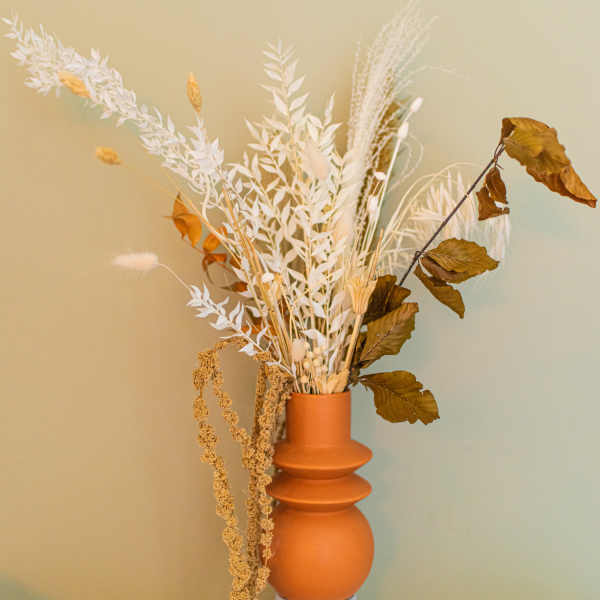 natural bouquet dried flowers valentines
