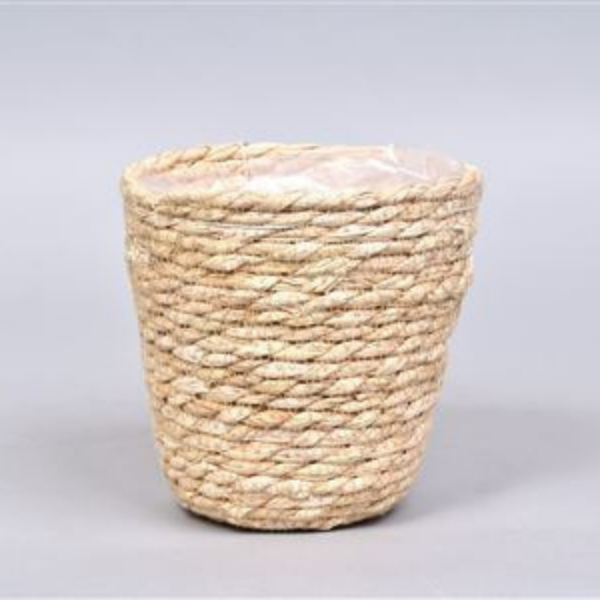 seagrass basket lined plant pot buy online