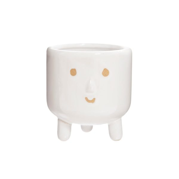 smiley face plant pot